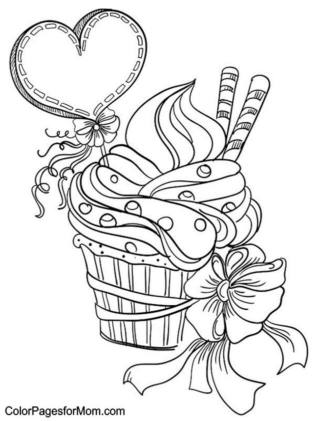 630x840 Free Coloring Pages For Girls Printable Cupcakes Crosswords