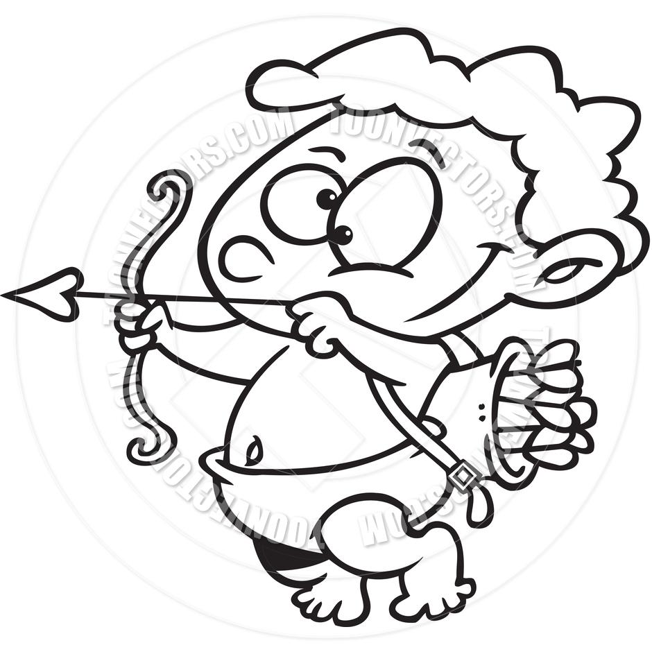 940x940 Cupid Drawing Cartoon Cartoon Cupid (Black And White Line Art) By