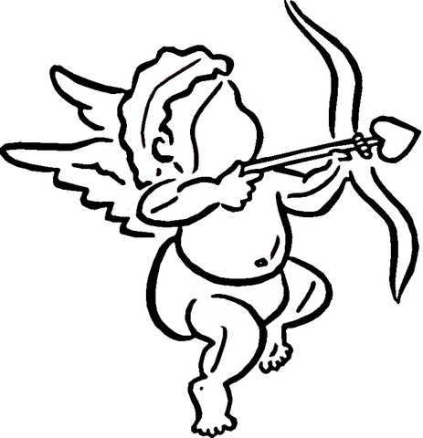 463x480 Cupid Makes Choice Coloring Page Free Printable Coloring Pages