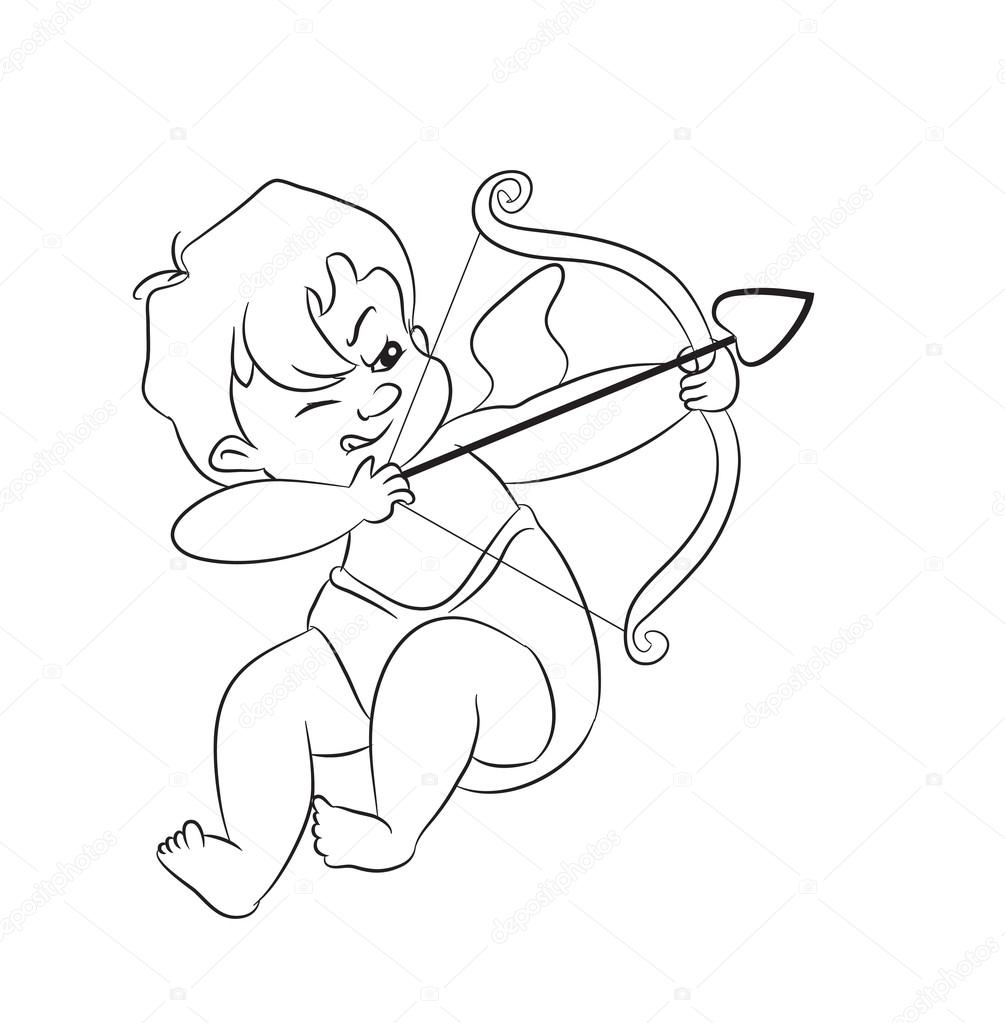 1005x1023 Valentine Day Cupid Angel Stock Vector Tanitue