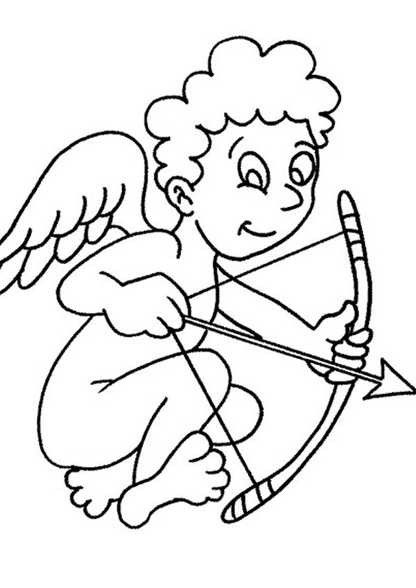 600x849 Cartoon Of Cupid Coloring Page Coloring Sun