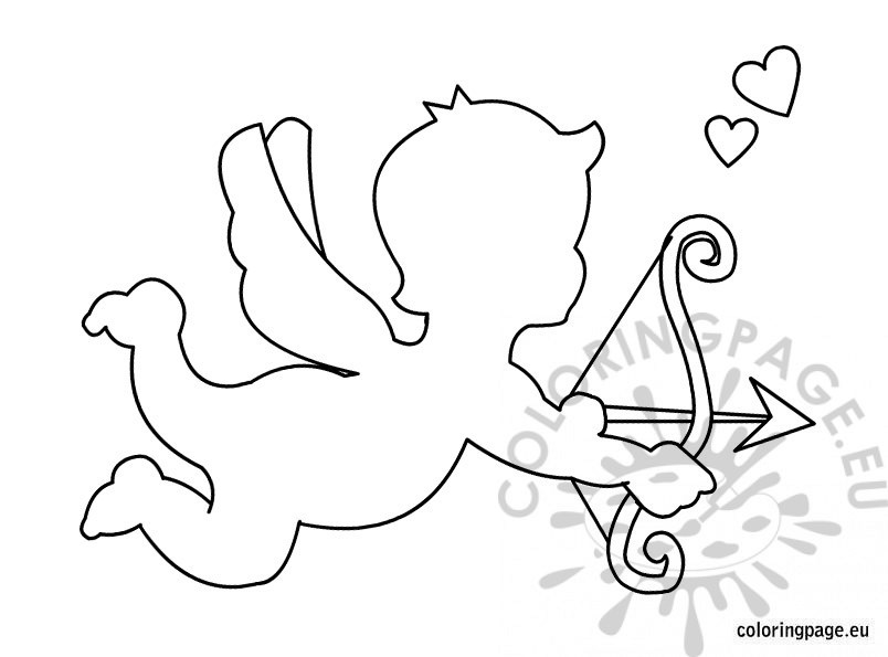 804x595 Cupid Template Printable Coloring Page