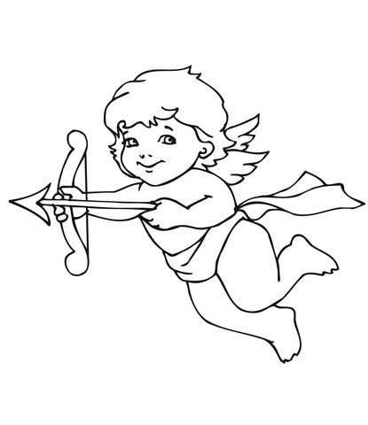 415x480 Cute Valentine Cupid Coloring Page Free Printable Coloring Pages