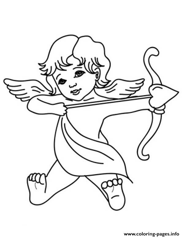 600x775 Baby Cupid Valentines Coloring Pages Coloring