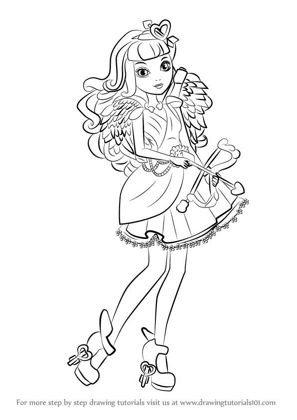 596x842 Learn How To Draw C.a. Cupid From Ever After High (Ever After High