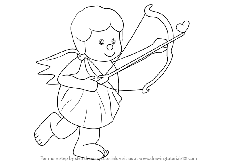 800x566 Learn How To Draw A Cupid With Bow (Love) Step By Step Drawing