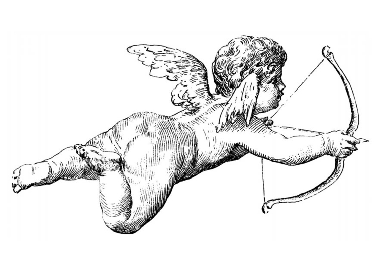 750x531 Coloring Page Cupid