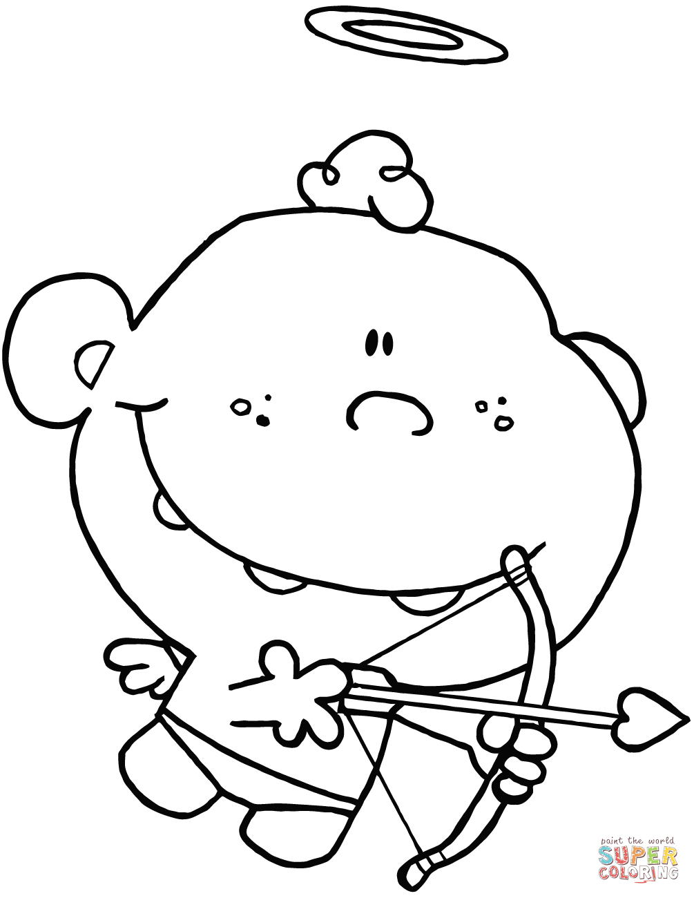 1005x1300 Cupid Drawing Cartoon Cartoon Cupid With Bow And Arrow Coloring