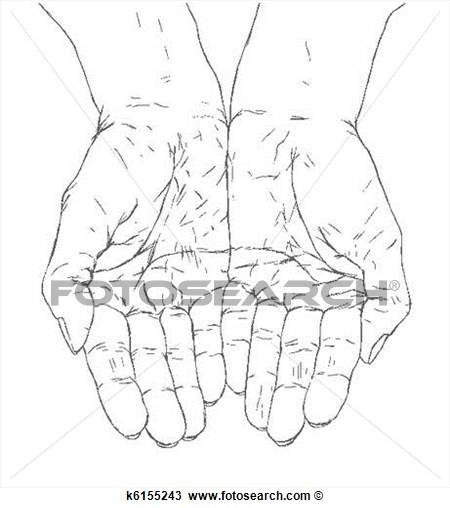 Cupped Hand Drawing
