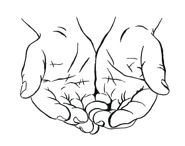 600x473 Praying Hands Coloring Page 11 Also Drawing Cupped Hands Coloring