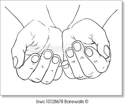 437x364 Art Print Of Cupped Female Hands Barewalls Posters Amp Prints