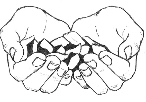 600x421 Cupped Hands Bring Us Candy Coloring Pages Cupped Hands Bring Us