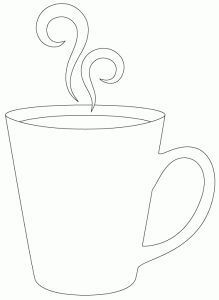 219x300 Drawn Tea Cup Simple