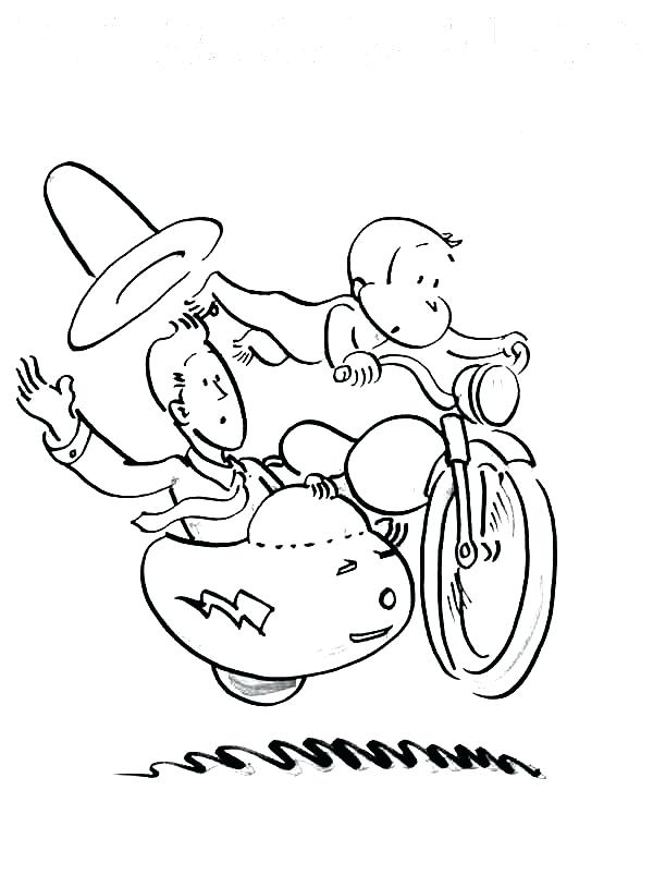 600x803 Coloring Pages Curious George Curious Ride A Bike Coloring Page