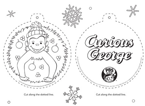 467x342 Curious George Ornament Happy Holidays PBS Parents