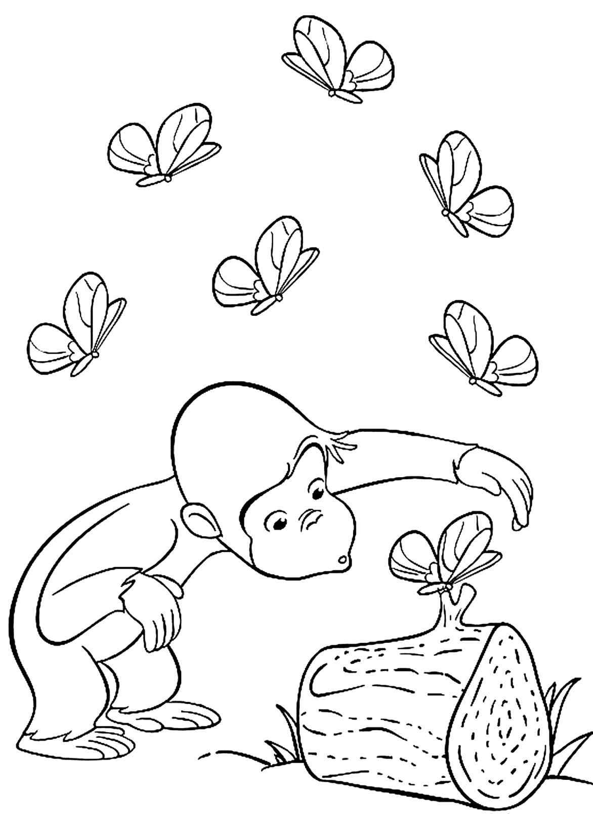 1172x1642 Curious George With Ted Coloring Pages For Kids Lovely Curious