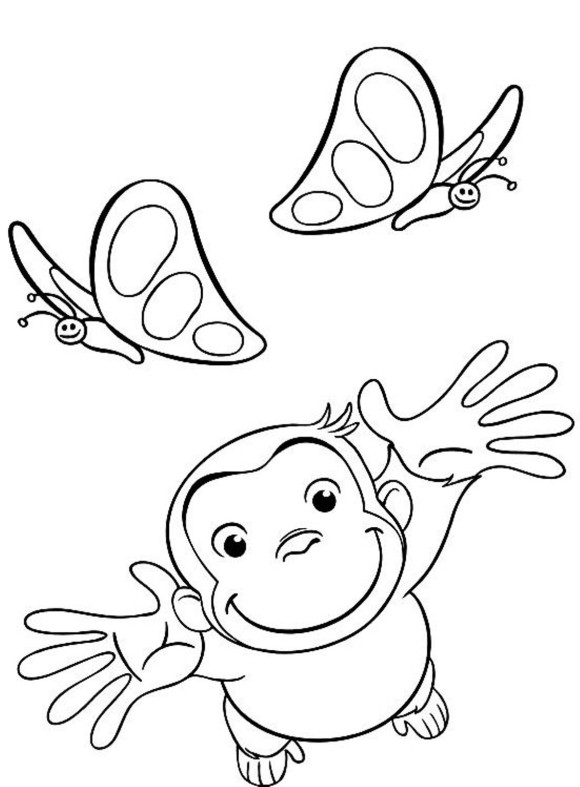 Curious George Drawing At Getdrawings Com Free For Personal Use