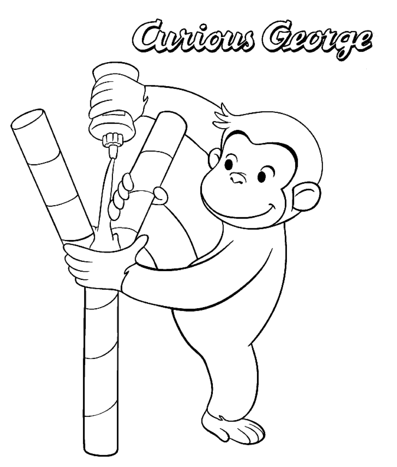 Curious George Drawing at GetDrawings.com   Free for personal use ...