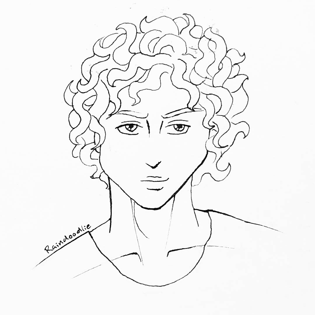 curly hair drawing at getdrawingscom free for personal