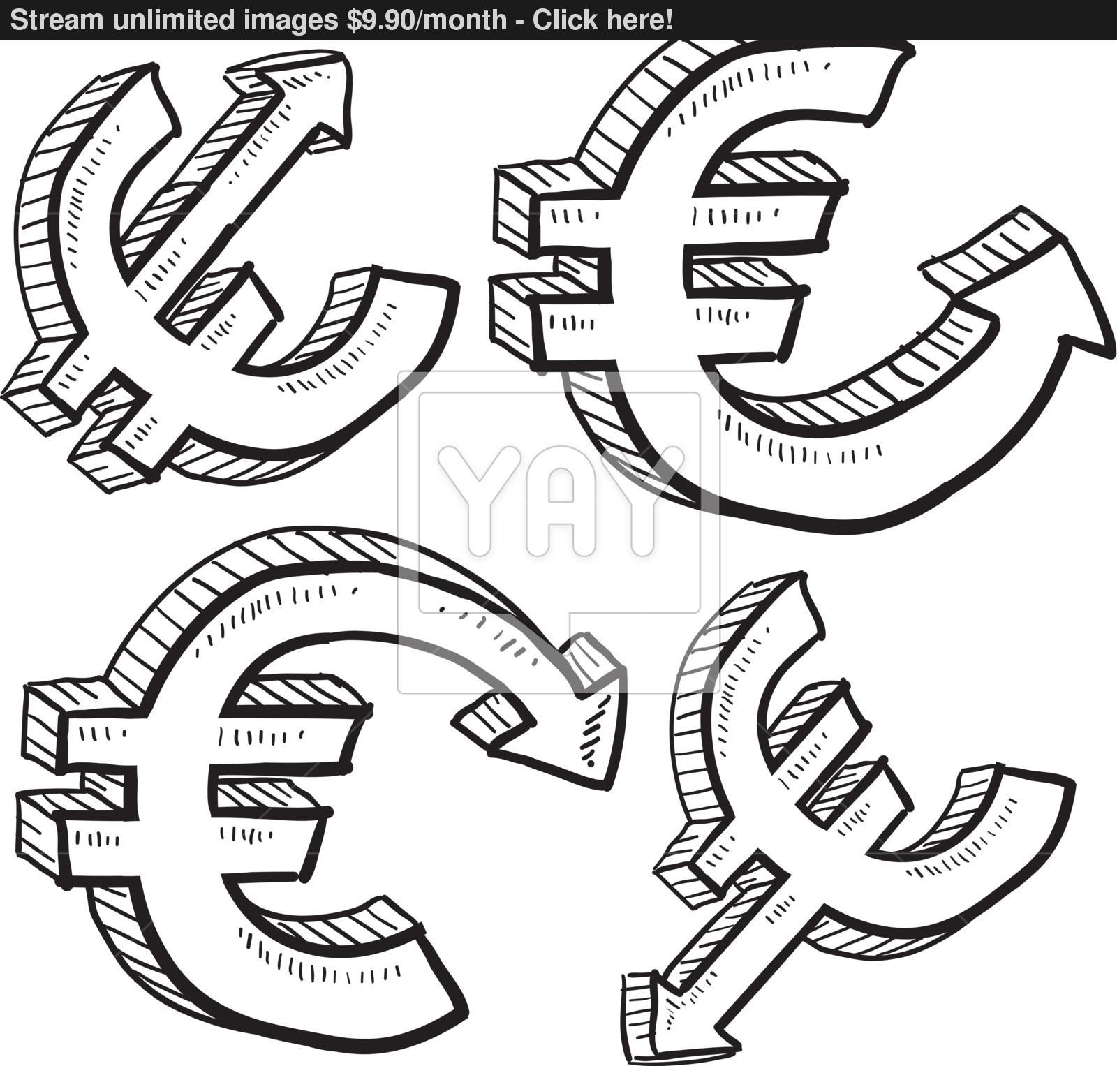1600x1527 Euro Currency Value Sketch Vector