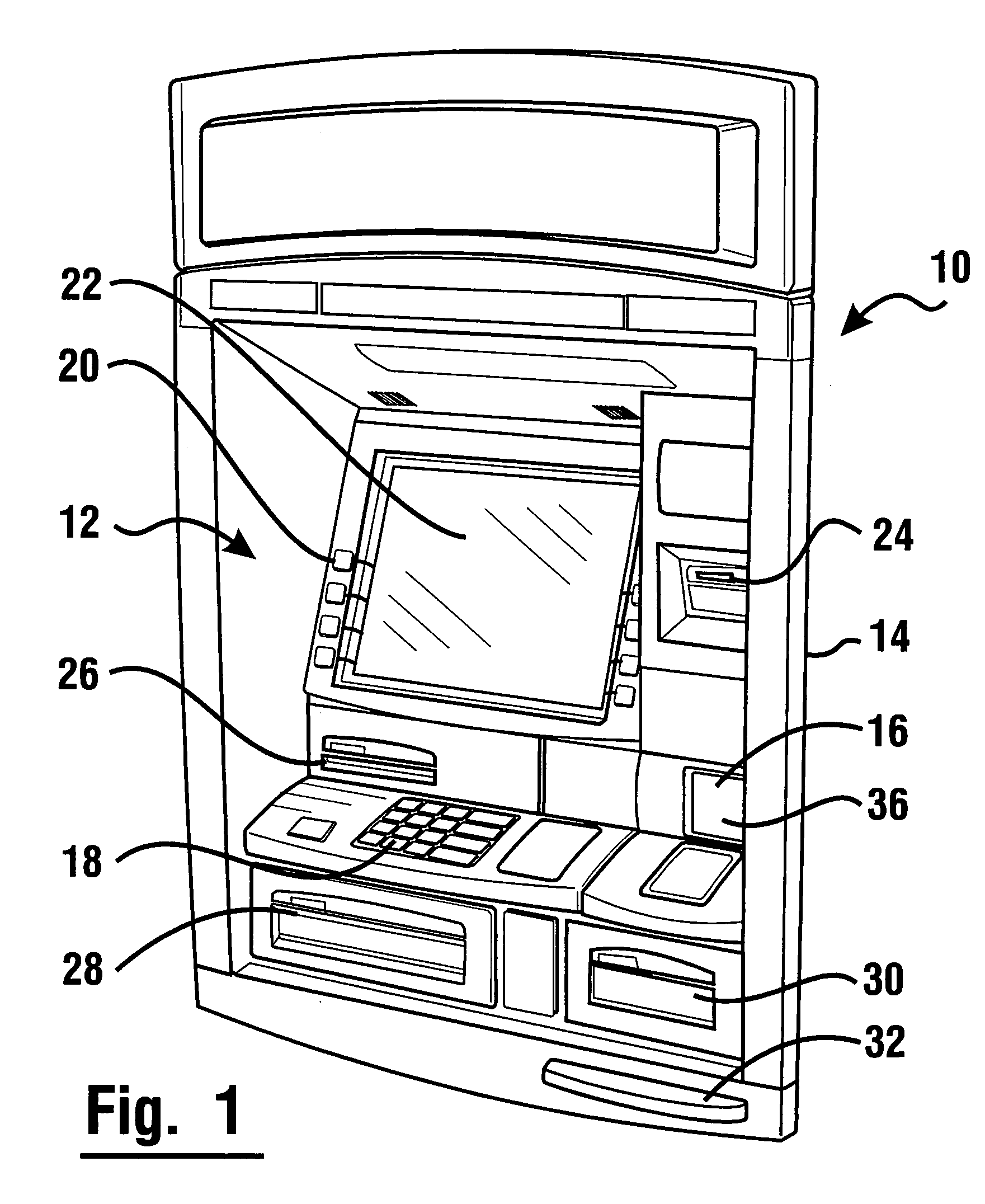 1761x2152 Patent Us7004385 Currency Dispensing Atm With Rfid Card Reader