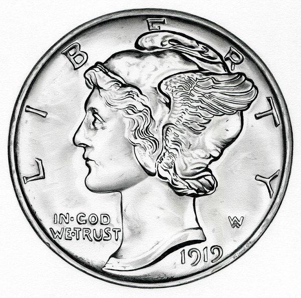 600x595 Us Currency Drawings Fine Art America