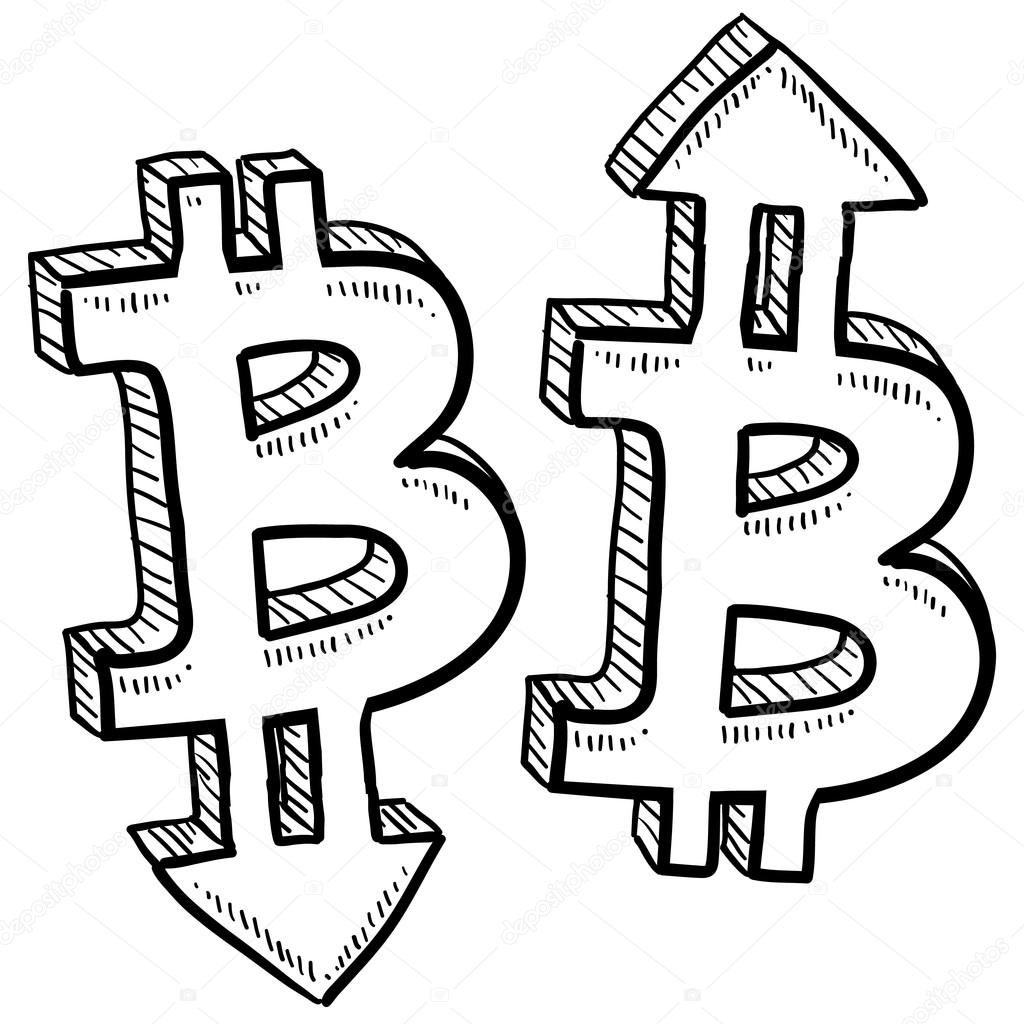 1024x1024 Bitcoin Currency Value Sketch Stock Vector Lhfgraphics