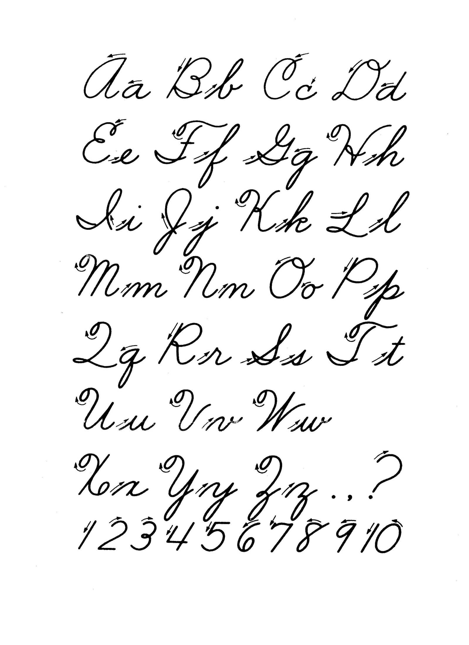 1599x2200 All Alphabets In Cursive Radovicescu