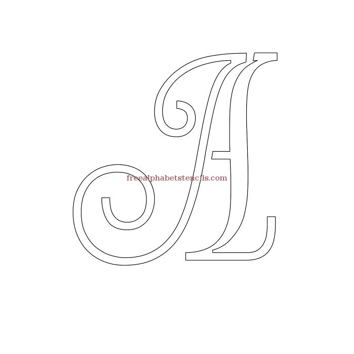 Cursive drawing at getdrawings free for personal use cursive 700x700 decorative cursive uppercase lowercase alphabet stencils spiritdancerdesigns Images