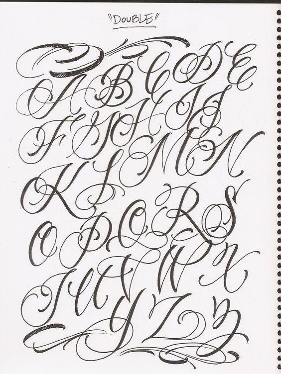 564x752 Images For Gt Fancy Cursive Fonts Alphabet Tattoos Lettering