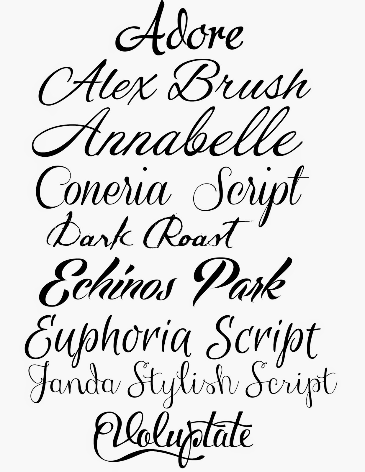 1237x1600 Tattoo Simple Cursive Fonts