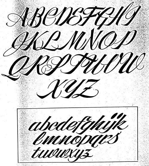 Tattoo cursive letters a z