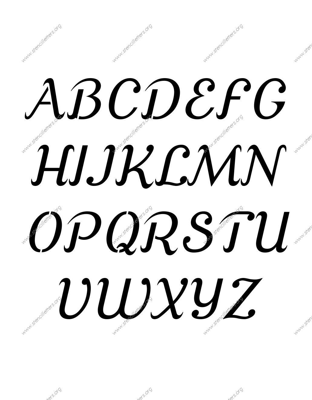 1031x1321 Grand Ornamental Cursive Uppercase Amp Lowercase Letter Stencils A Z