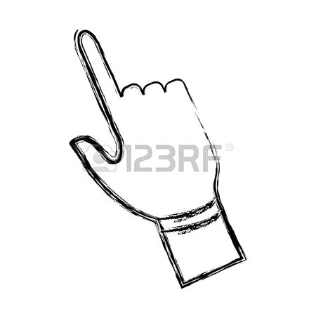 450x450 Click Hand Icon Pointer Finger Cursor Vector Illustration Royalty