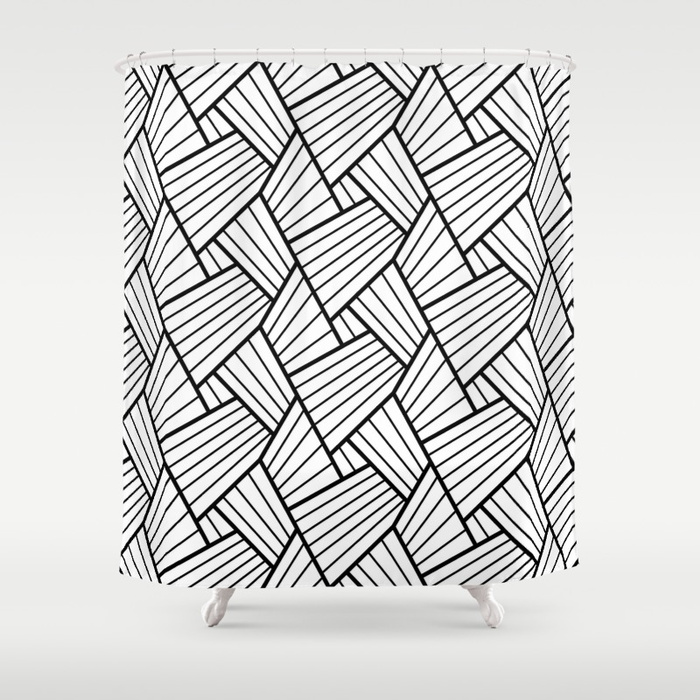 700x700 Abstract Lines Pattern Design 1 Shower Curtain By Pixaroma Society6
