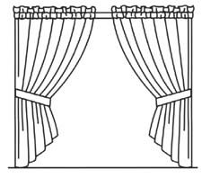 225x198 How To Draw Curtains On A Window