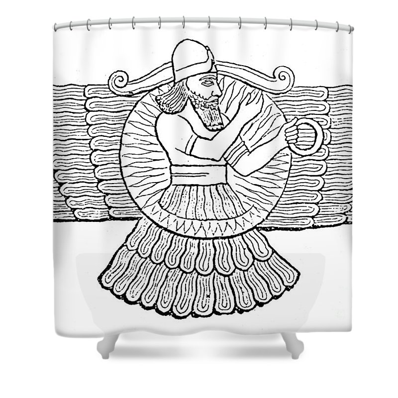 800x800 Ashur, Assyrian God Shower Curtain For Sale By Photo Researchers
