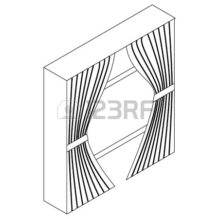 450x450 Curtain On Stage Icon. Outline Illustration Of Curtain On Stage