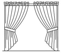 250x220 Curtain Coloring Pages