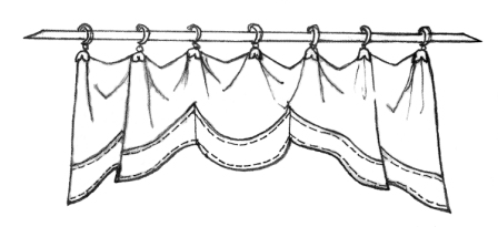 448x205 42 sketches of curtain styles Home Pinterest Curtain styles