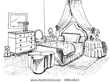 450x340 Kids Bedroom Drawing Bunk Beds Bedroom Window Curtains Night