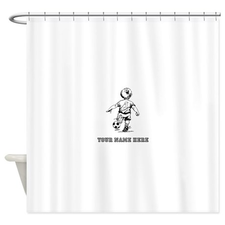 460x460 Little One Soccer Drawing Shower Curtains CafePress