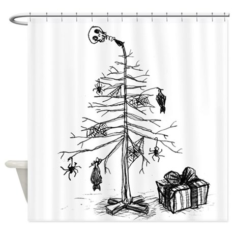 460x460 Spider Drawings Shower Curtains CafePress