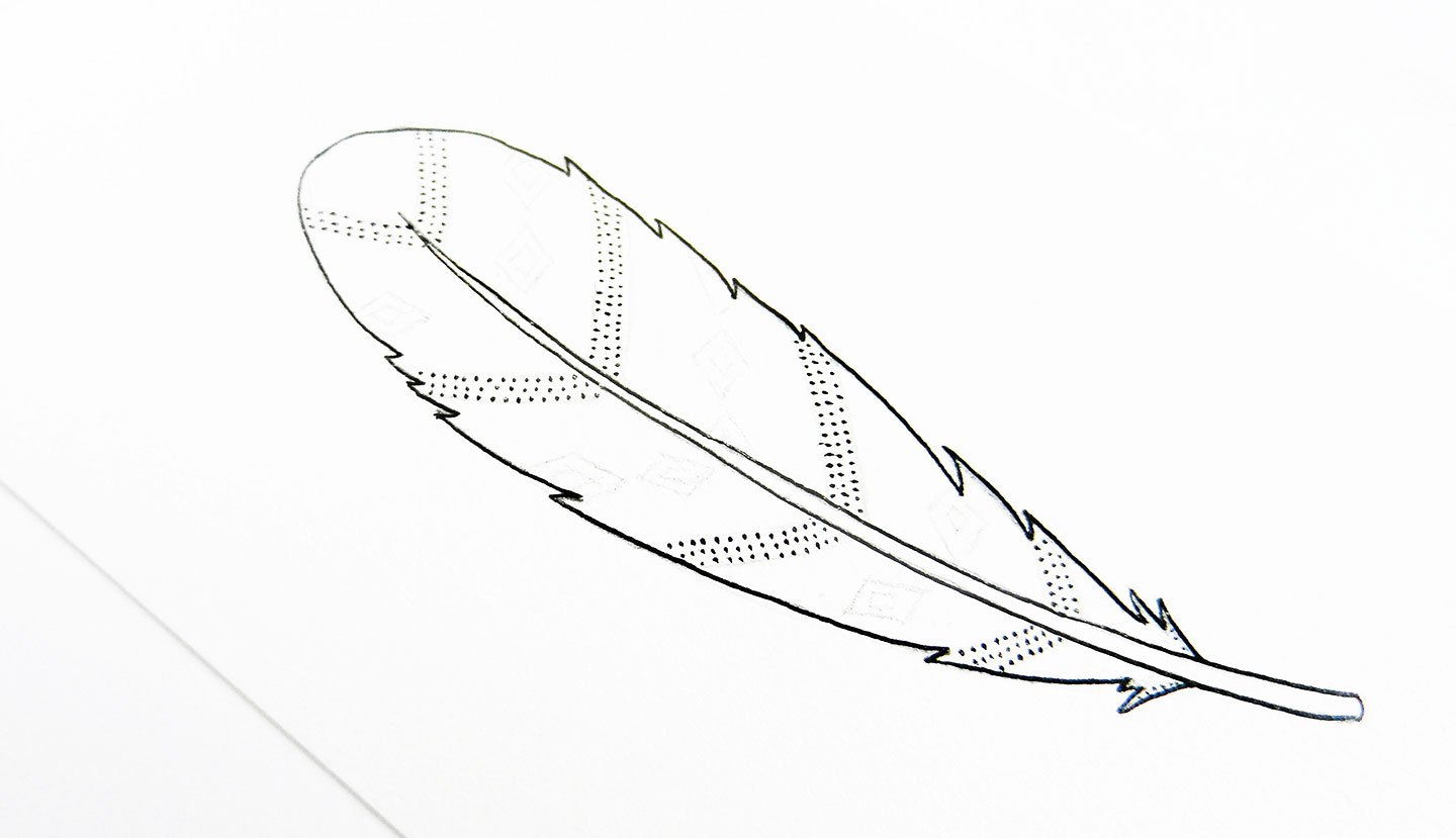 1440x829 Simple Illustration Tutorials Feathers The Postman's Knock