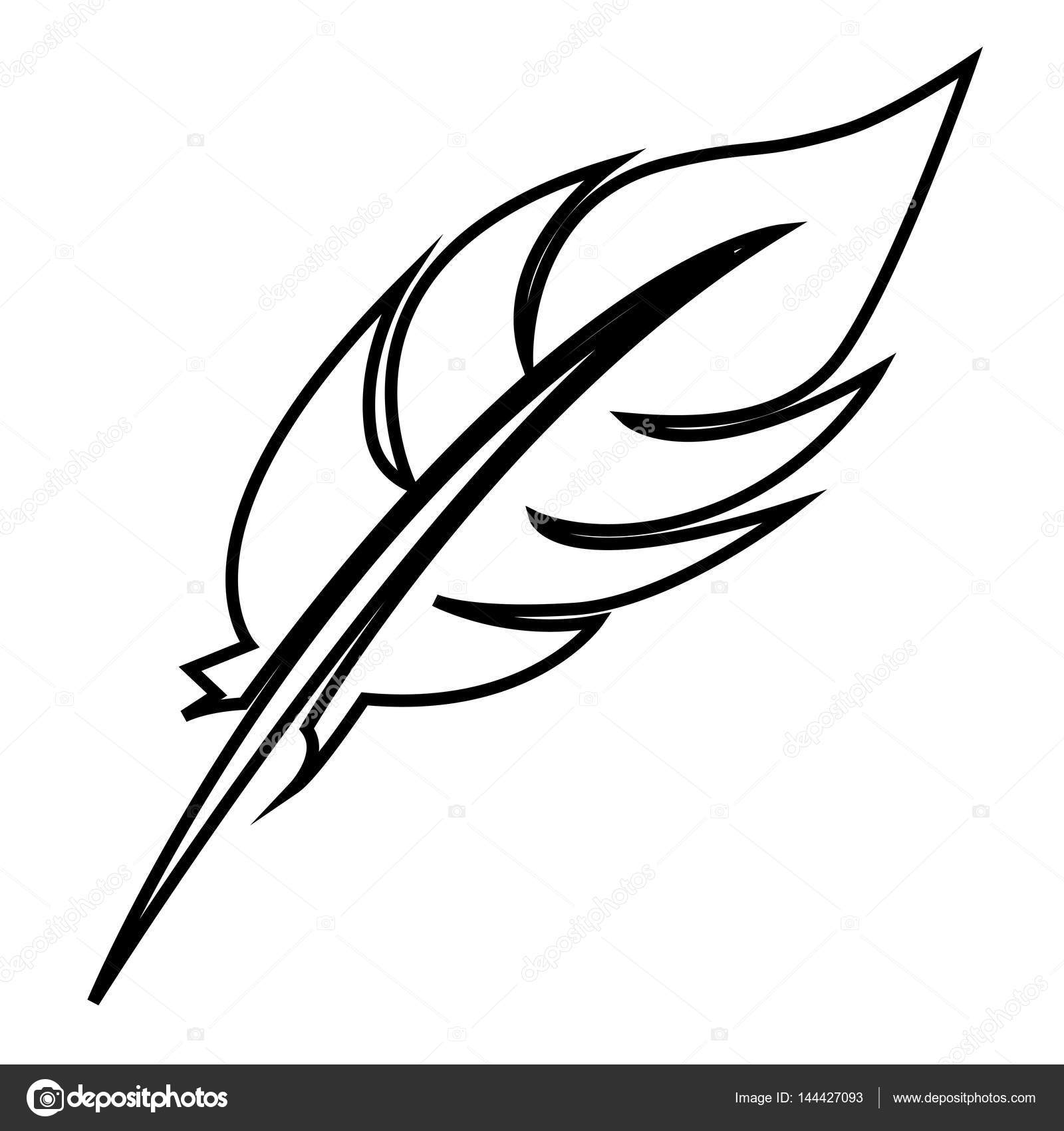 1600x1700 White Figure Feather Icon Stock Stock Vector Grgroupstock