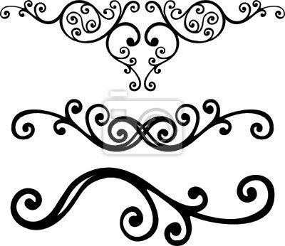 400x346 Curved Line Design Clipart