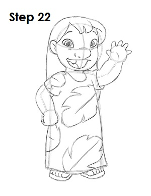 300x388 How To Draw Lilo (Lilo Amp Stitch)