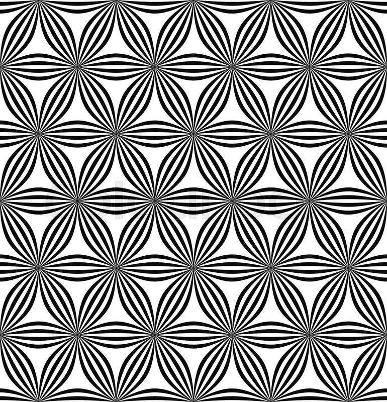 770x800 Seamless Abstract Geometric Hexagonal Curved Line Pattern Stock