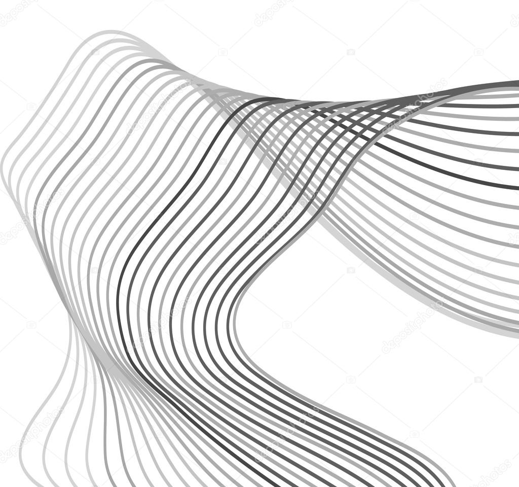 1024x960 Curved Lines Background White And Grey And Black Vector Stock