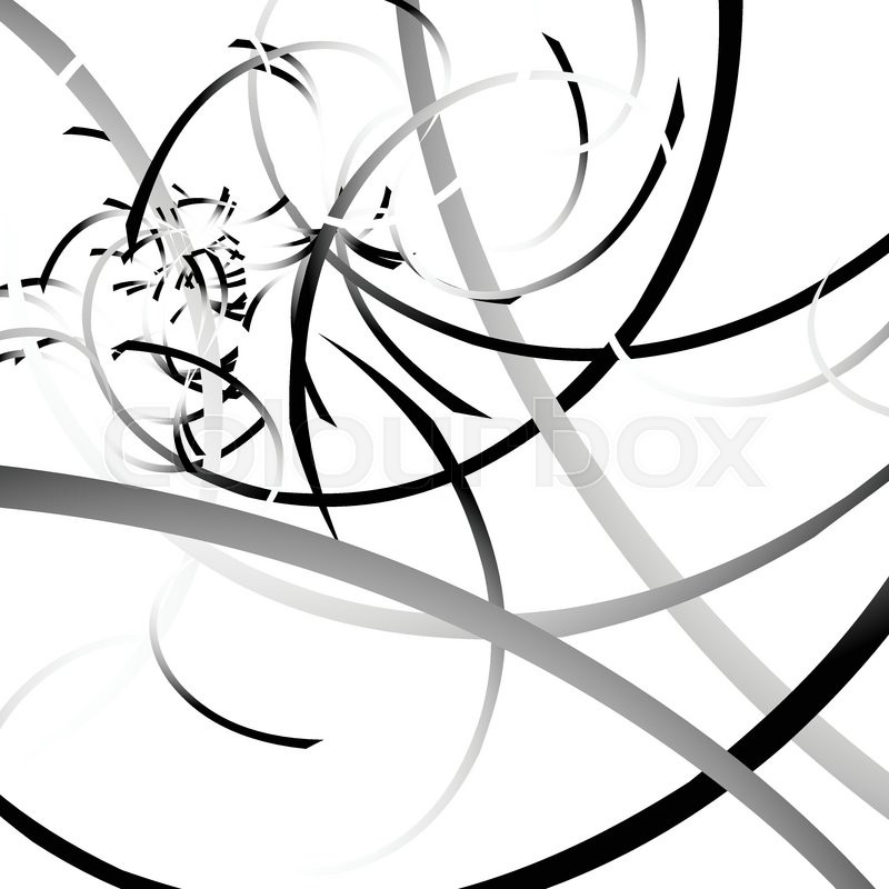 800x800 Curved Lines Randomly, Scattered Malformed Lines With Grayscale